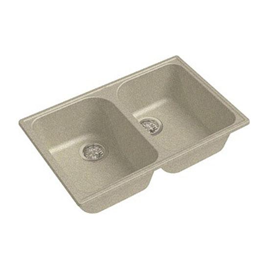 Кухонная мойка GranFest Eco 15 песок кухонная мойка smeg lse 40 ra медный metaltek