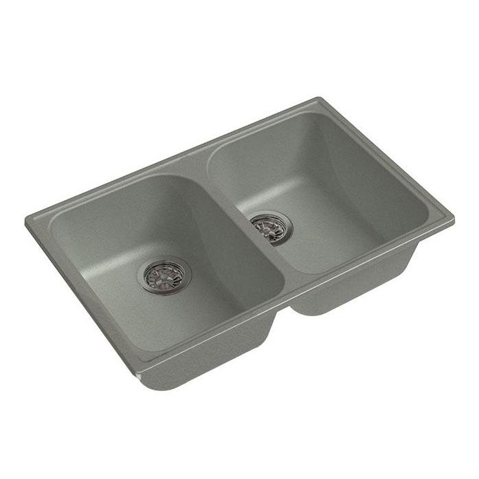 Кухонная мойка GranFest Eco 15 серый кухонная мойка smeg lse 40 ra медный metaltek