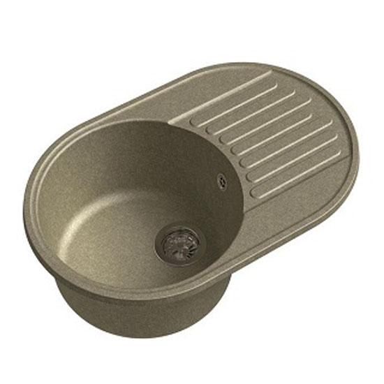 Кухонная мойка GranFest Eco 18 песок кухонная мойка smeg lse 40 ra медный metaltek