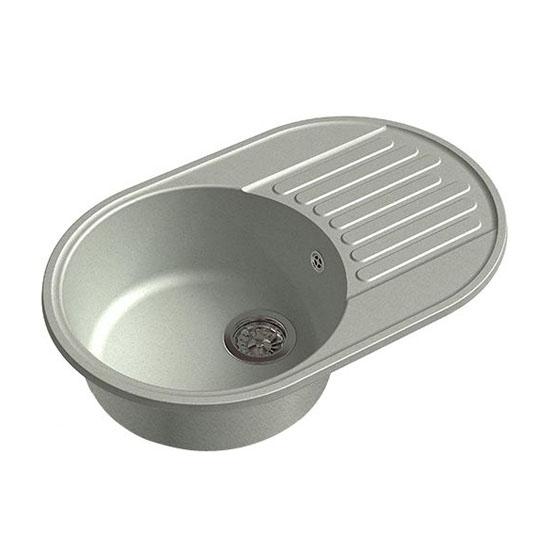 Кухонная мойка GranFest Eco 18 серый кухонная мойка smeg lse 40 ra медный metaltek