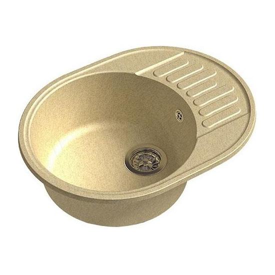 Кухонная мойка GranFest Eco 58 бежевый цена