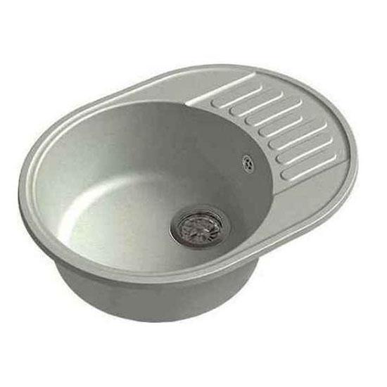 Кухонная мойка GranFest Eco 58 серый кухонная мойка smeg lse 40 ra медный metaltek
