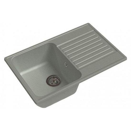 Кухонная мойка GranFest Eco 78 серый кухонная мойка smeg lse 40 ra медный metaltek