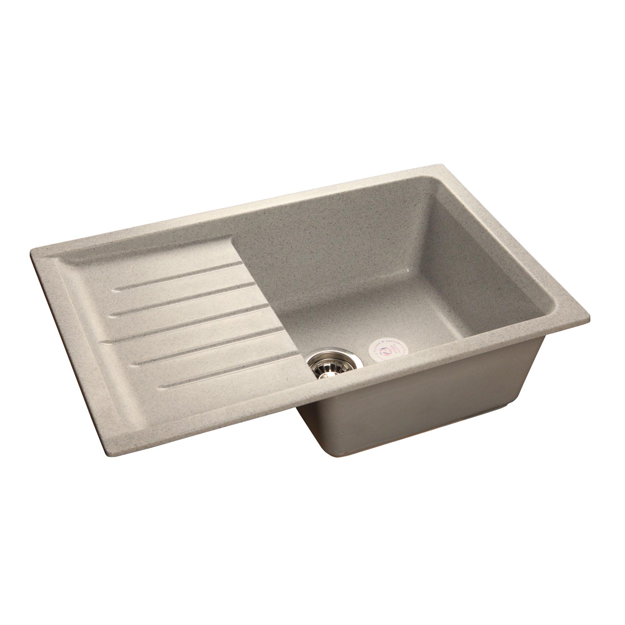 Кухонная мойка GranFest Practic GF-P760L серый цеханский с п энциклопедия техники для мальчиков