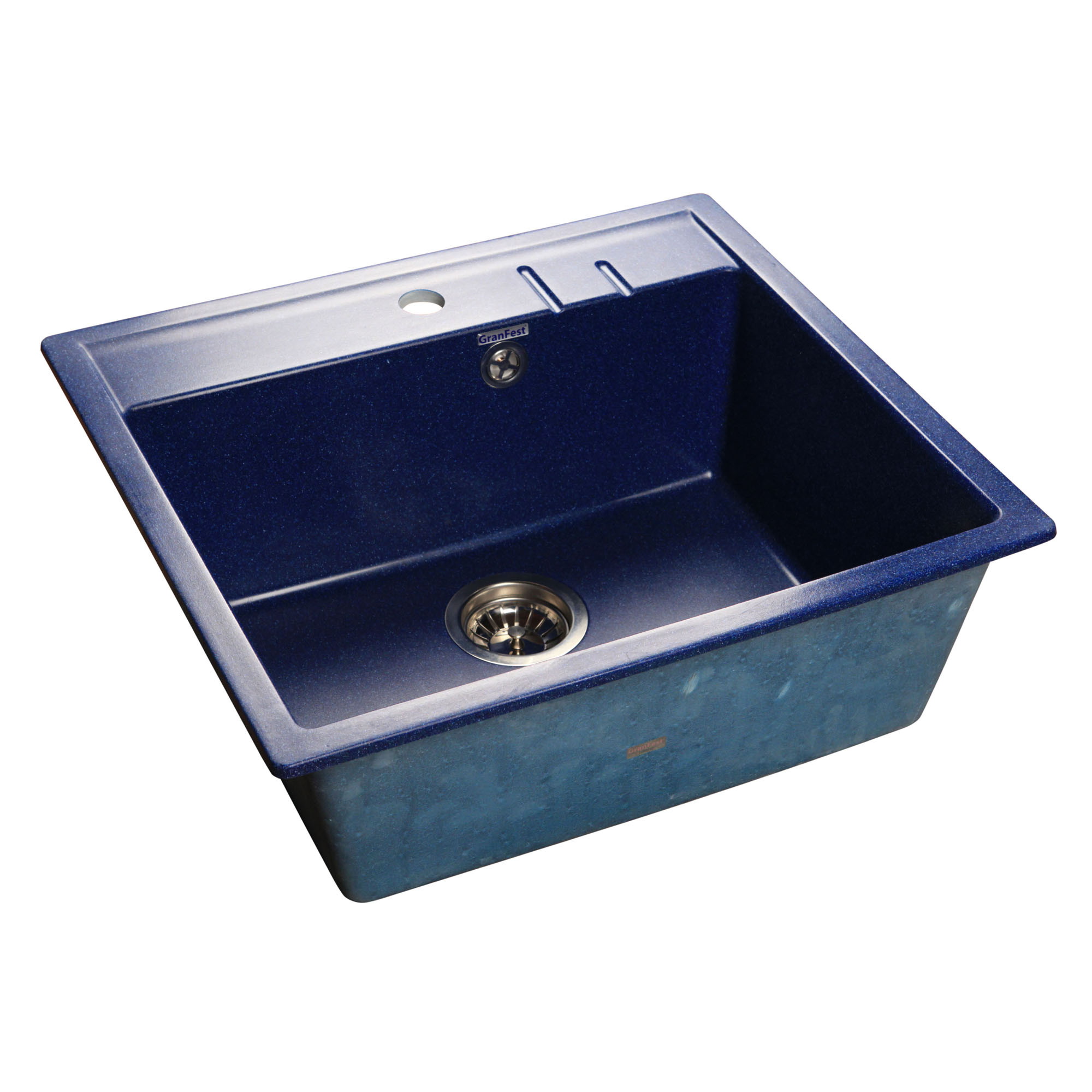 Кухонная мойка GranFest Quadro GF-Q560 синий мойка кухонная granfest гранит 565x510 gf q560 терракот