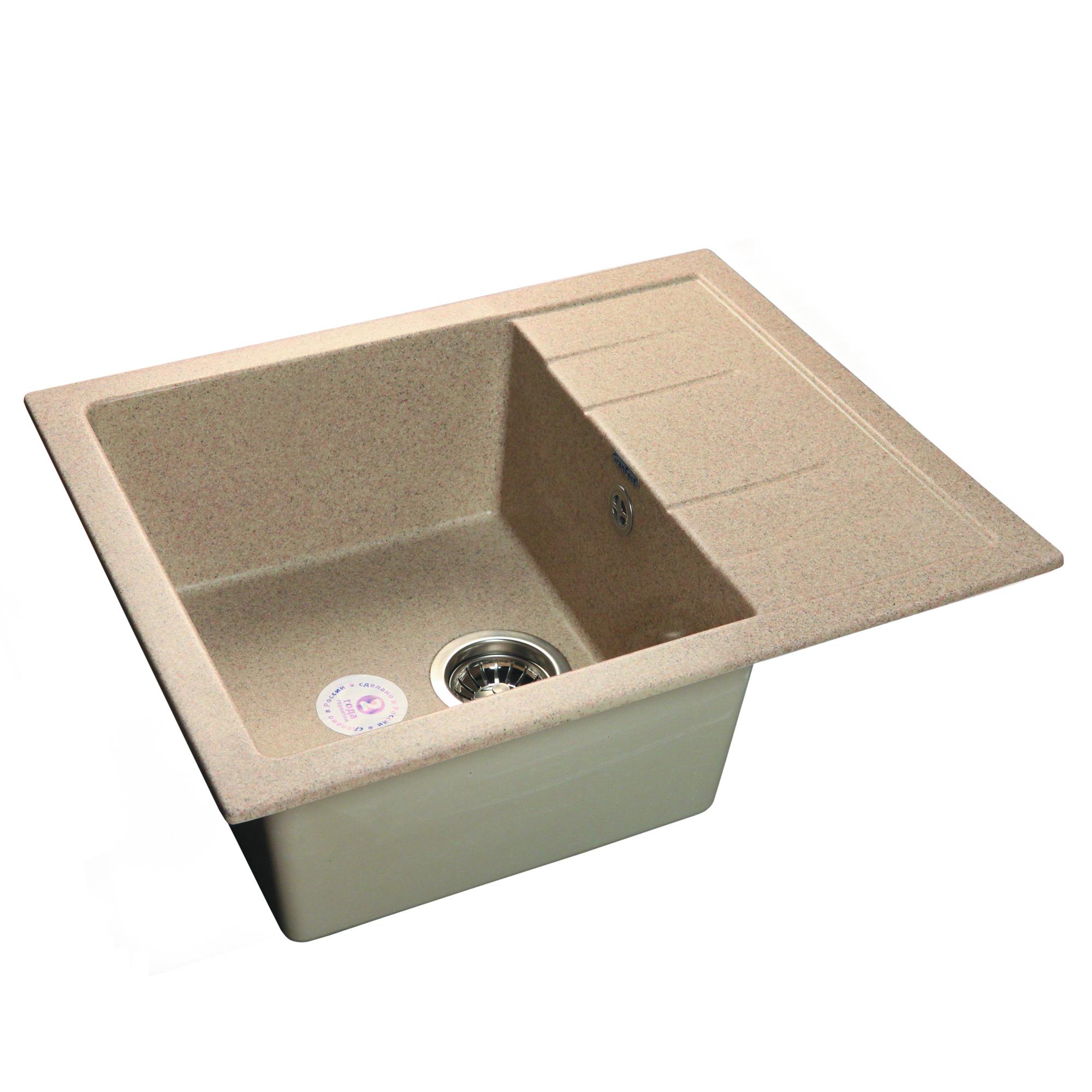 Кухонная мойка GranFest Quadro GF-Q650L песок цена