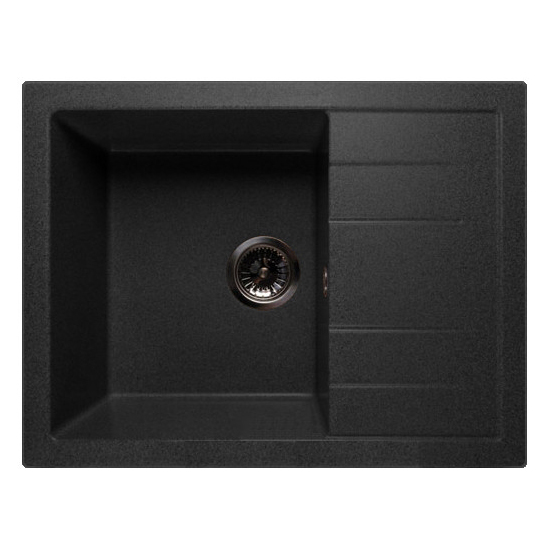 Кухонная мойка GranFest Quadro GF-Q650L черный цена