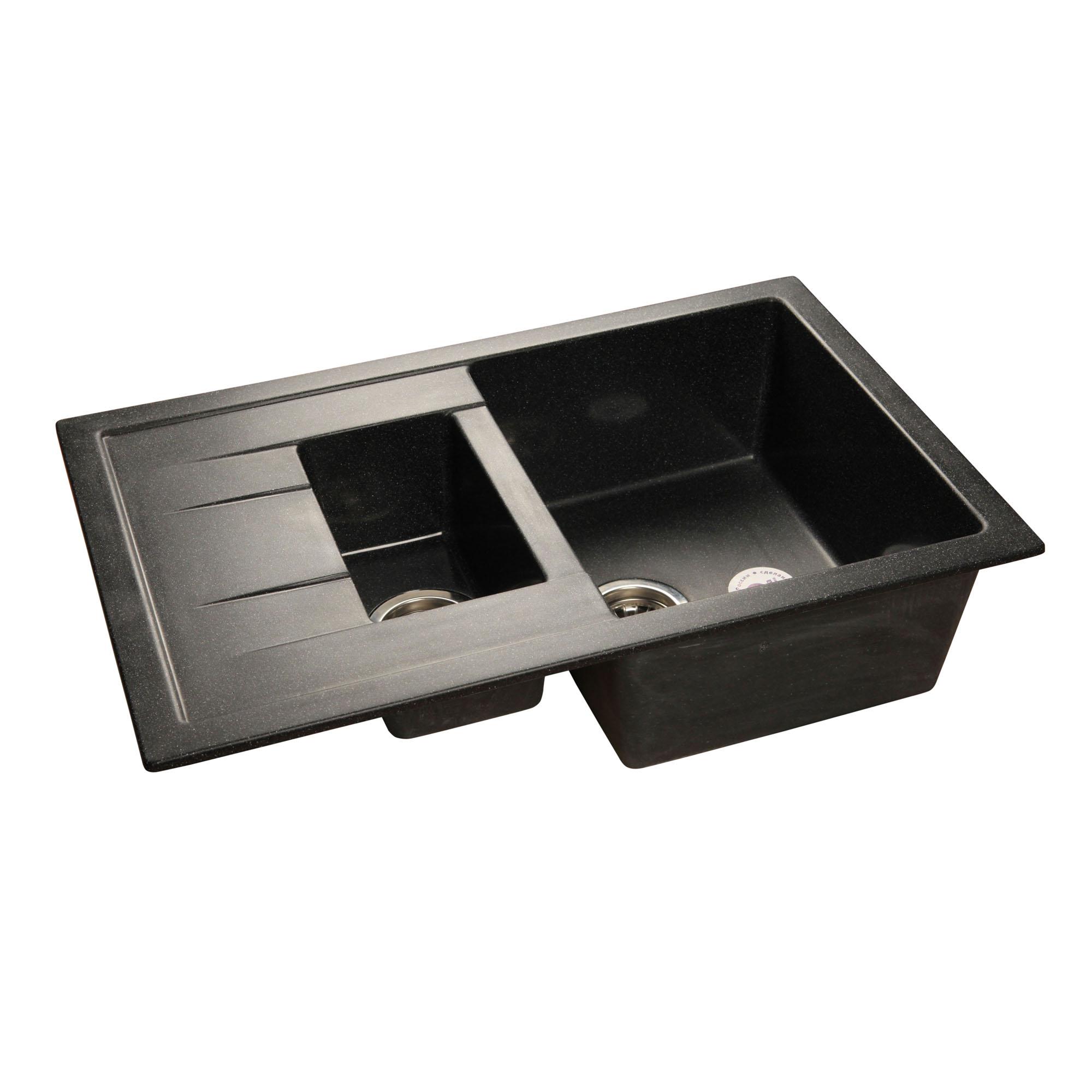 Кухонная мойка GranFest Quadro GF-Q775KL черный цена