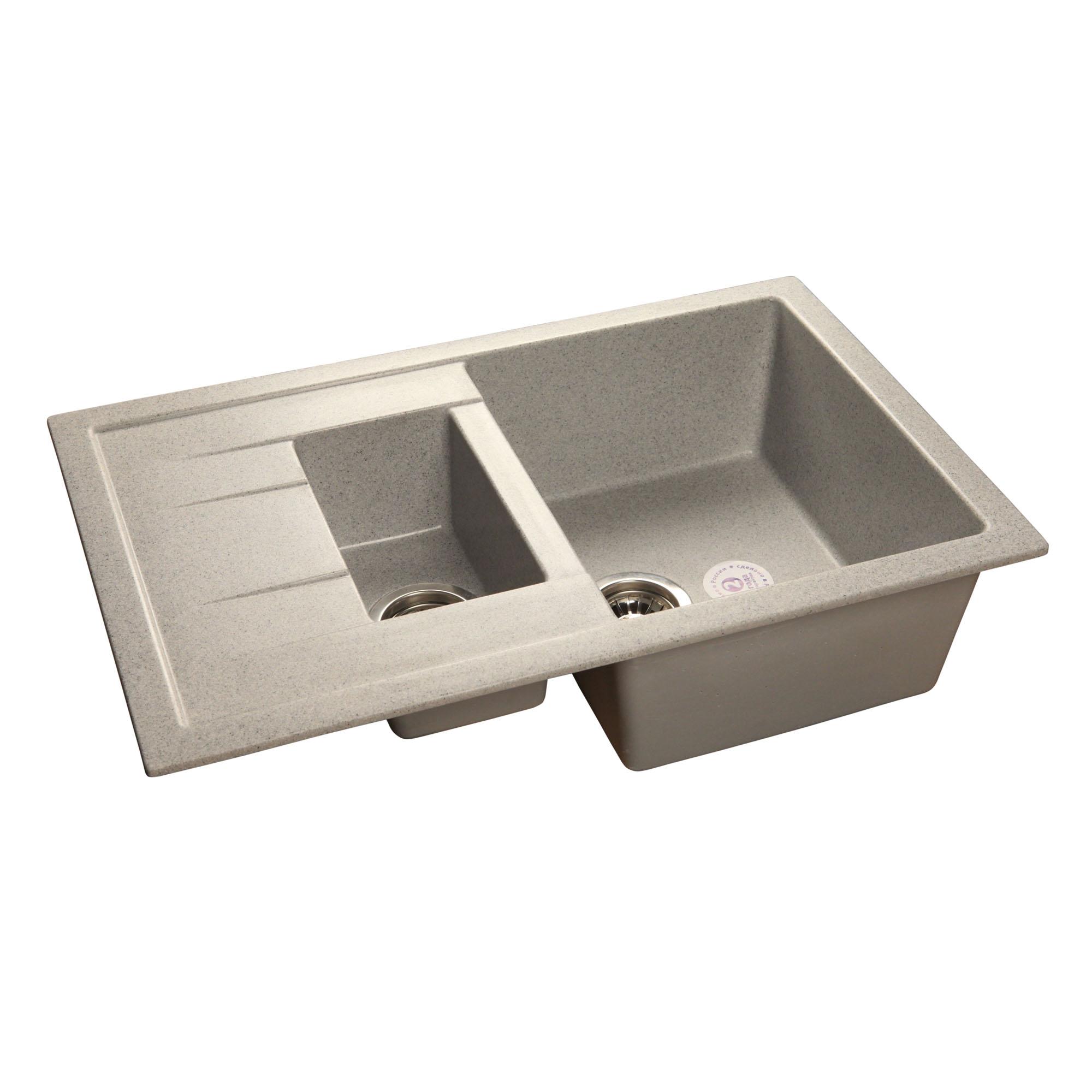 Кухонная мойка GranFest Quadro GF-Q775KL серый цена
