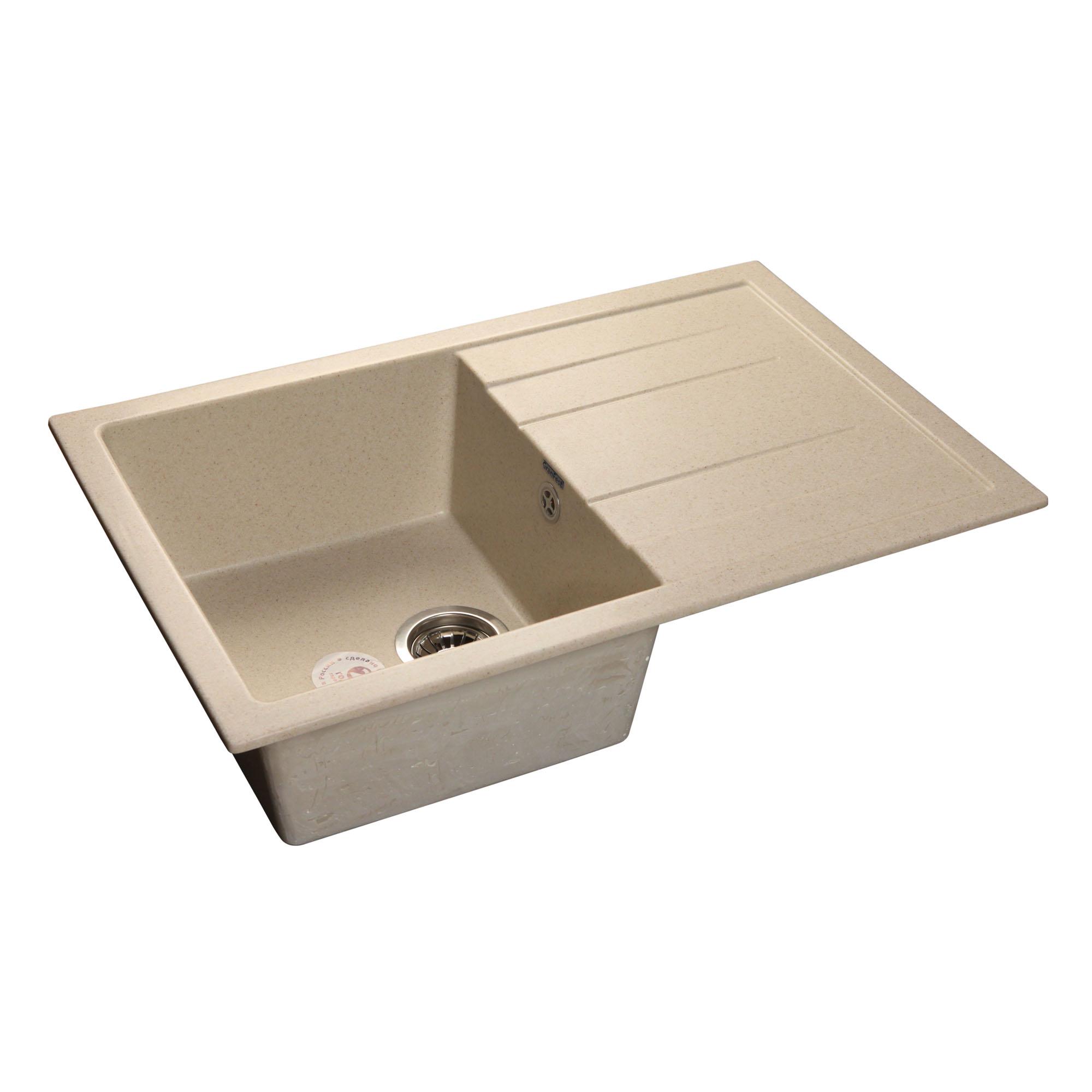 Кухонная мойка GranFest Quadro GF-Q780L бежевый цена