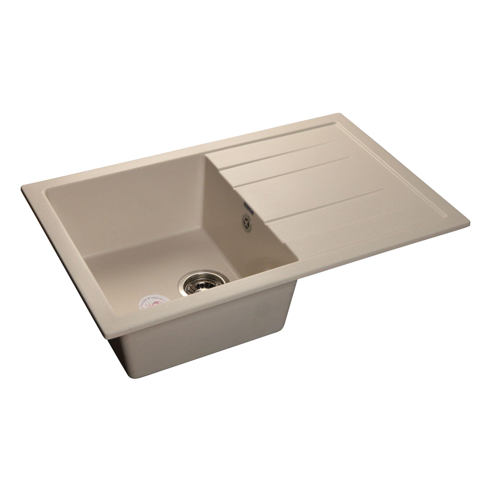 Кухонная мойка GranFest Quadro GF-Q780L белый мойка кухонная weissgauff quadro 800 eco granit белый