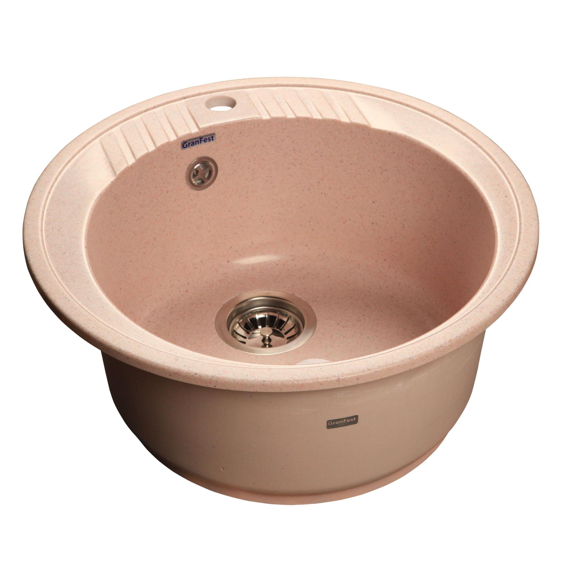 Кухонная мойка GranFest Rondo GF-R520 светло-розовый цена