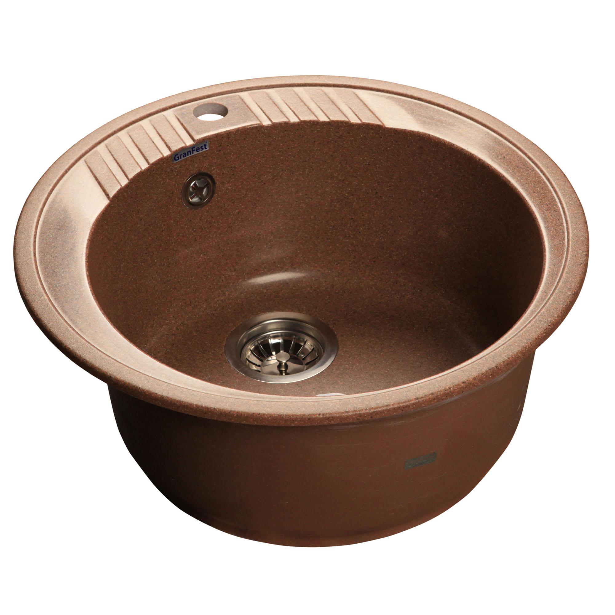 Кухонная мойка GranFest Rondo GF-R520 терракот мойка кухонная granfest гранит d520 gf r520 терракот