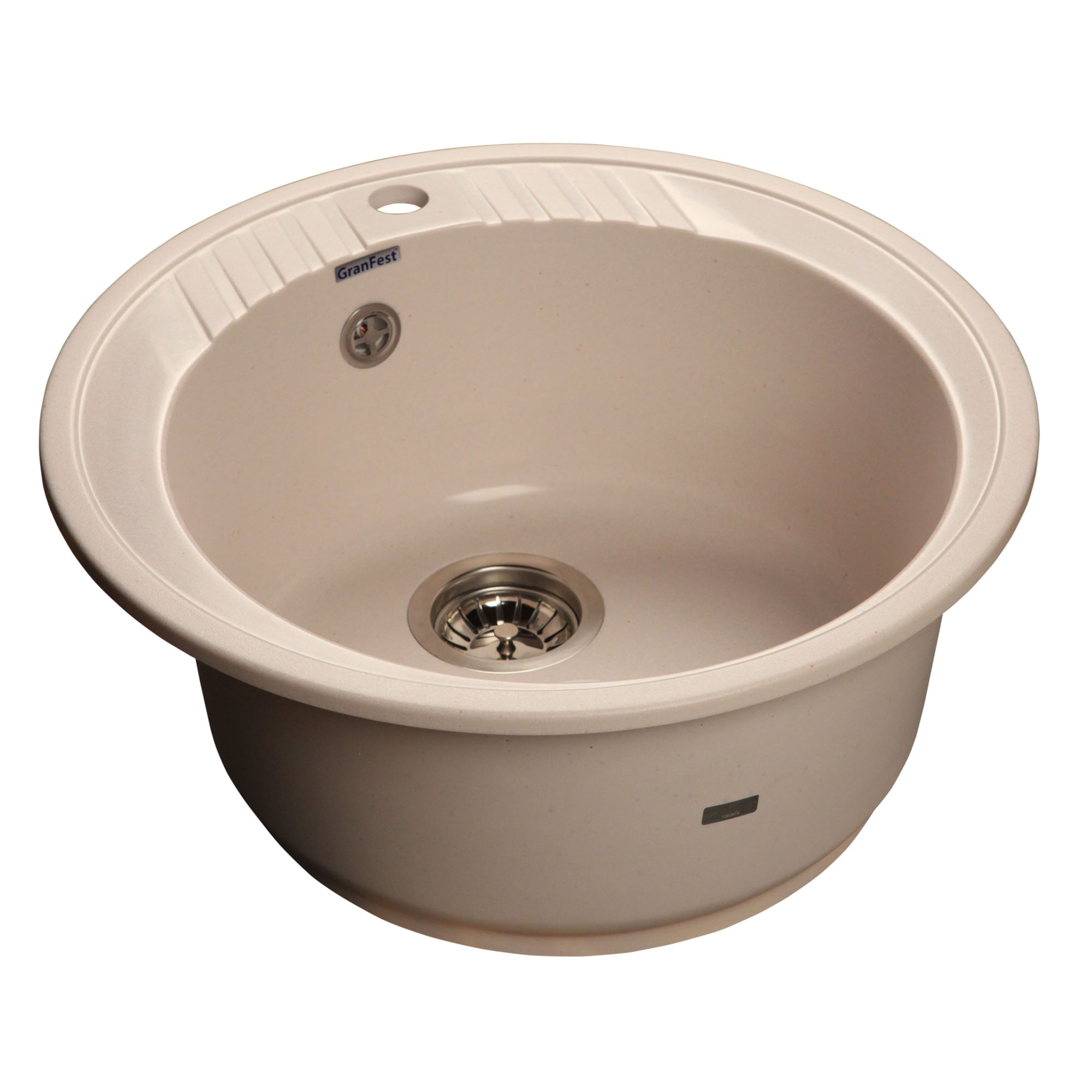 Кухонная мойка GranFest Rondo GF-R520 белый мойка кухонная granfest гранит d520 gf r520 терракот