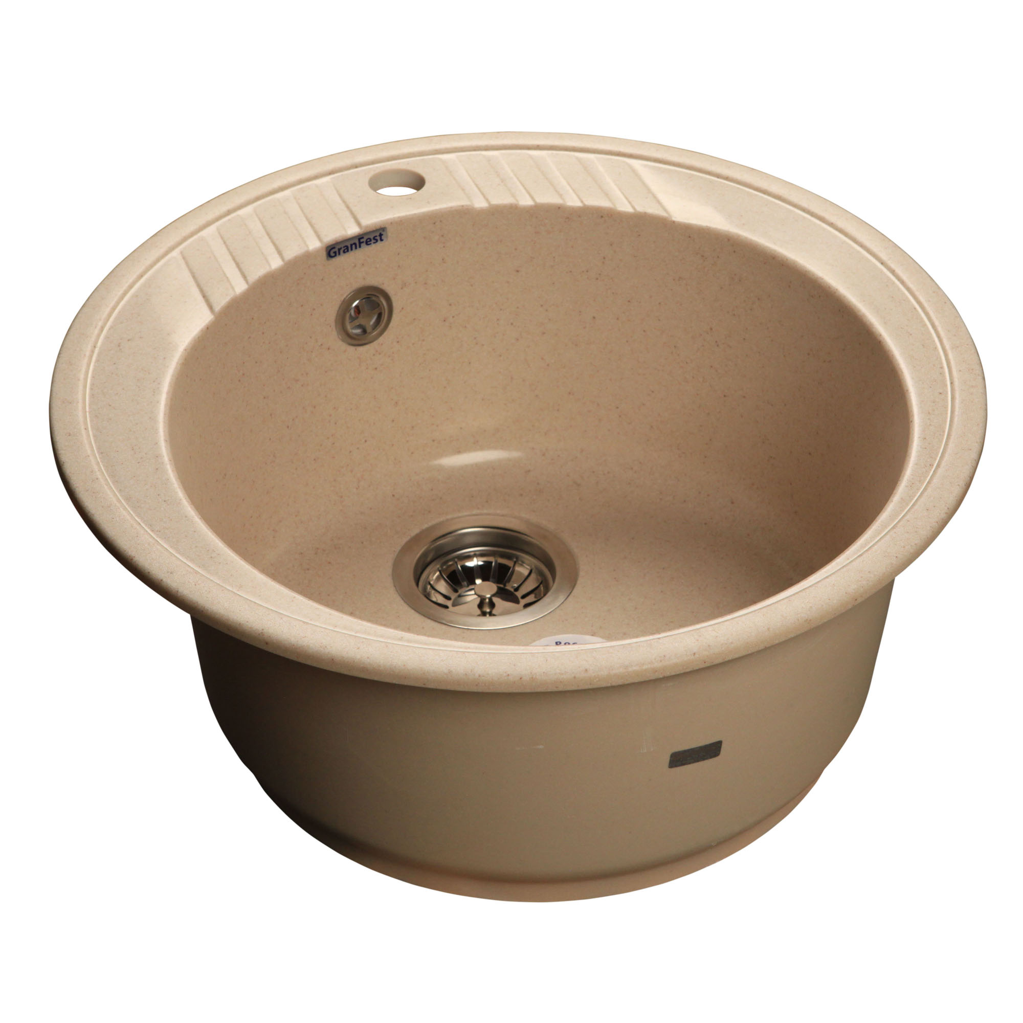 Кухонная мойка GranFest Rondo GF-R520 бежевый мойка кухонная granfest гранит d520 gf r520 терракот