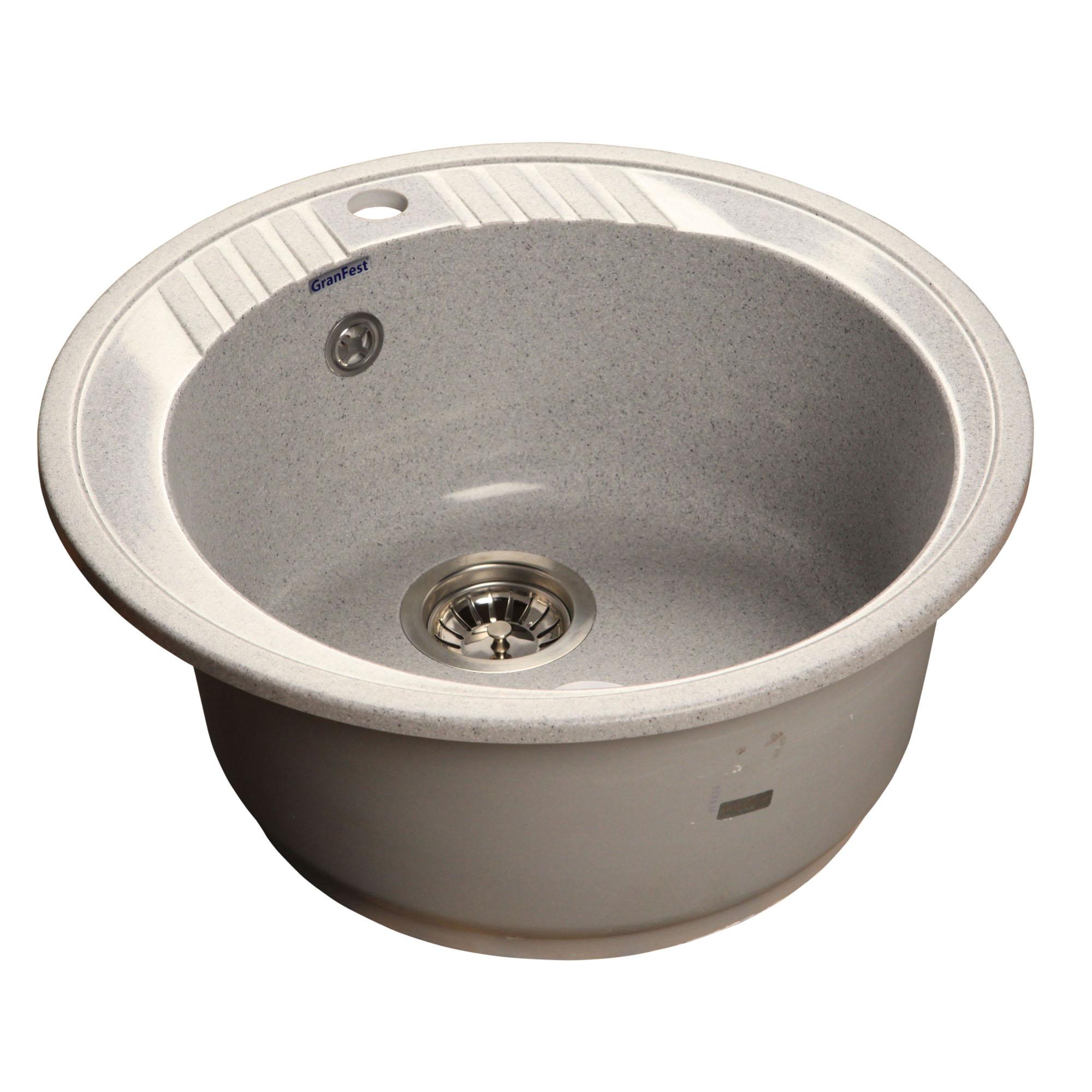 Кухонная мойка GranFest Rondo GF-R520 серый мойка кухонная granfest гранит d520 gf r520 терракот