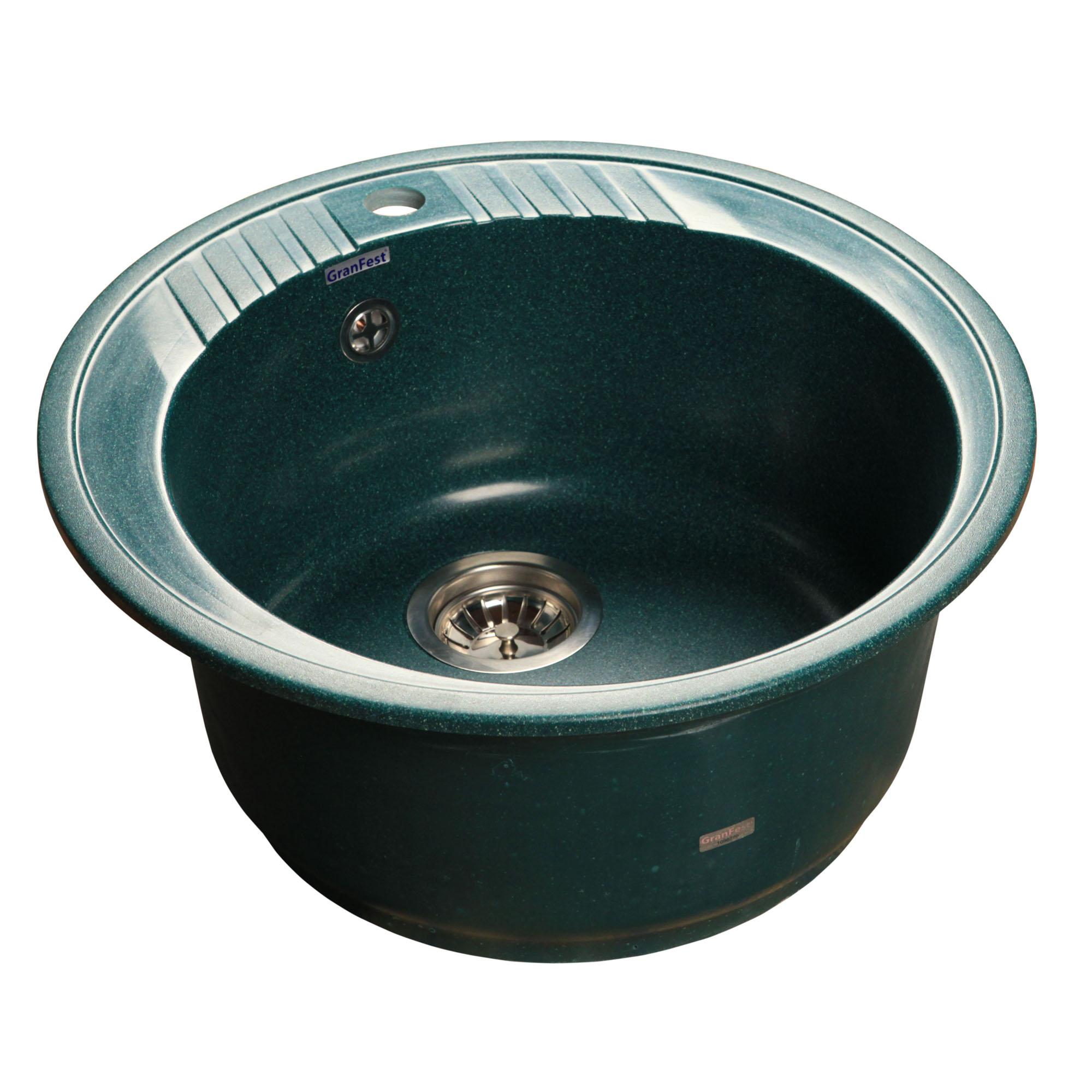 Кухонная мойка GranFest Rondo GF-R520 зеленый цена