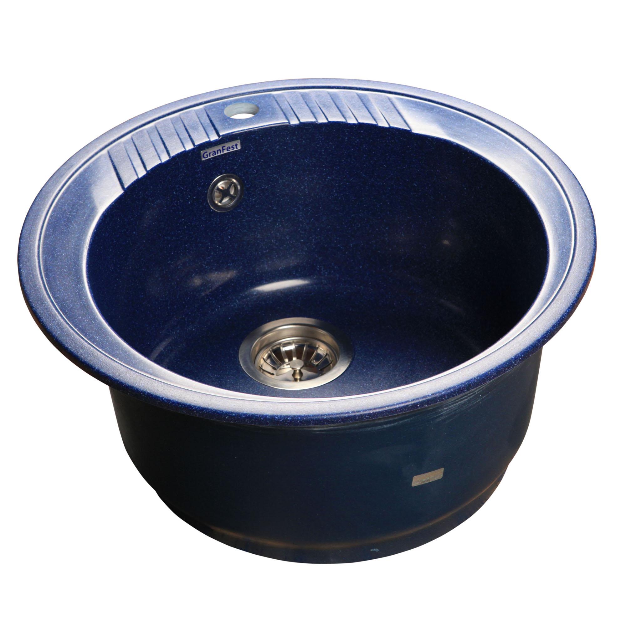 Кухонная мойка GranFest Rondo GF-R520 синий цена