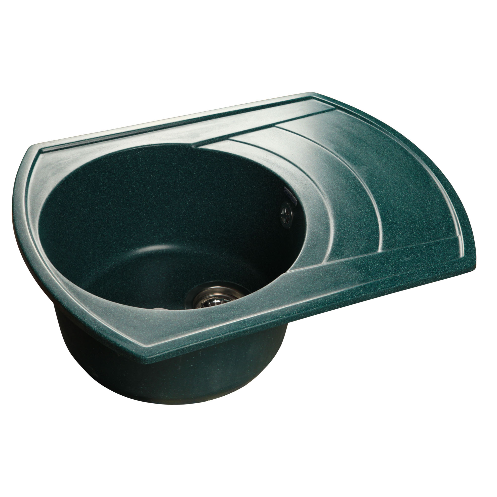 Кухонная мойка GranFest Rondo GF-R650L зеленый мойка кухонная granfest гранит 650x500 чаша крыло gf r650l черная