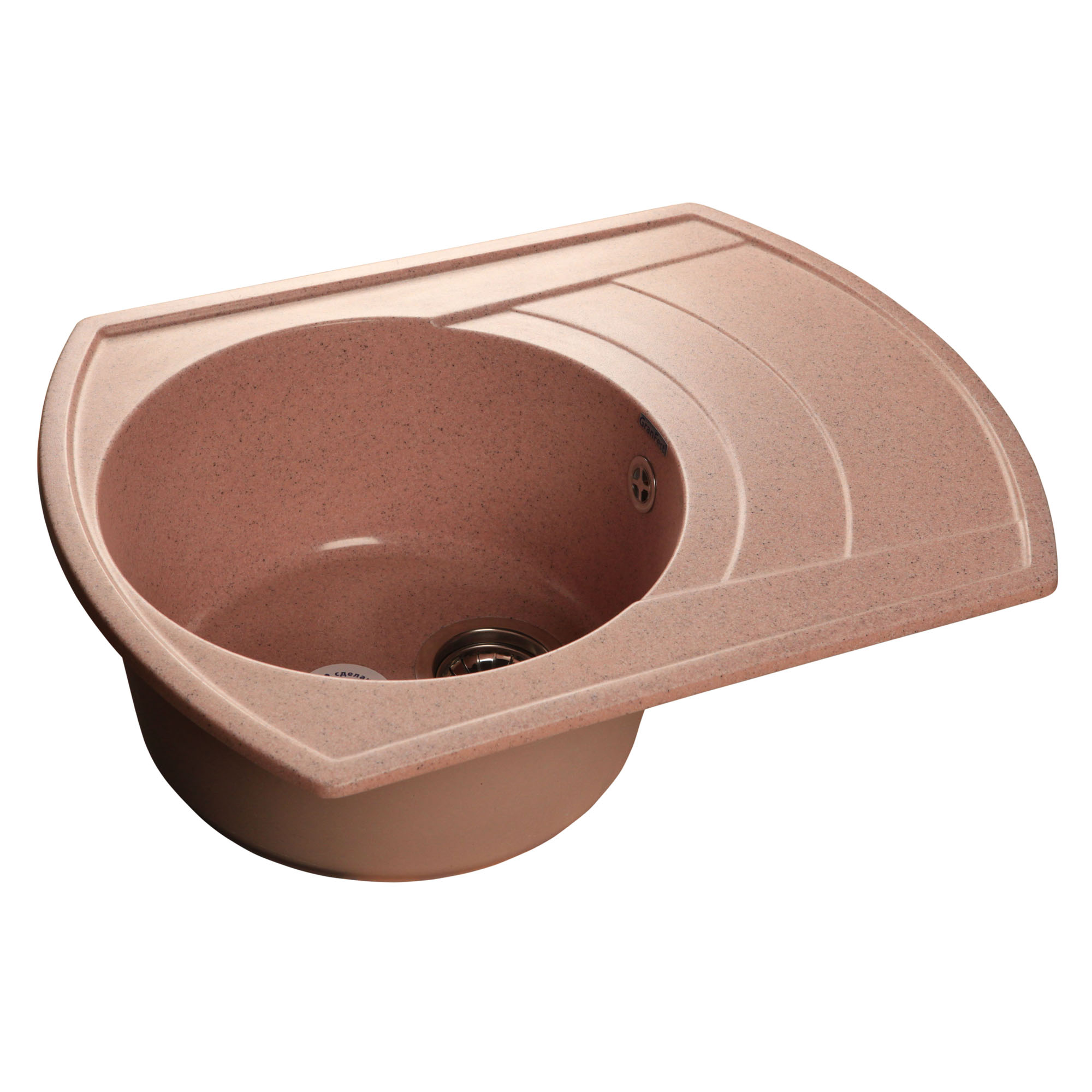 Кухонная мойка GranFest Rondo GF-R650L розовый мойка кухонная granfest гранит 650x500 чаша крыло gf r650l черная