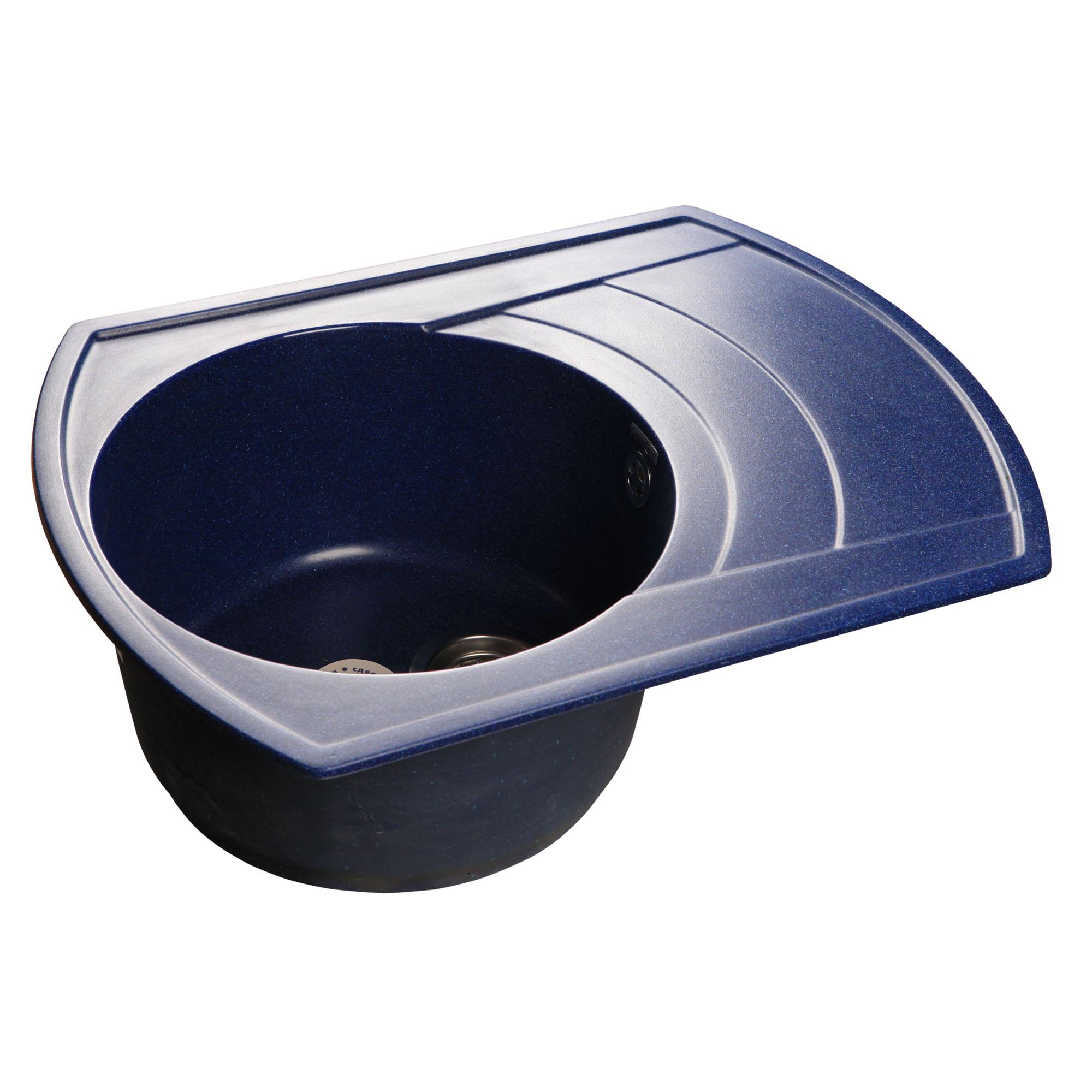 Кухонная мойка GranFest Rondo GF-R650L синий мойка кухонная granfest гранит 650x500 чаша крыло gf r650l черная