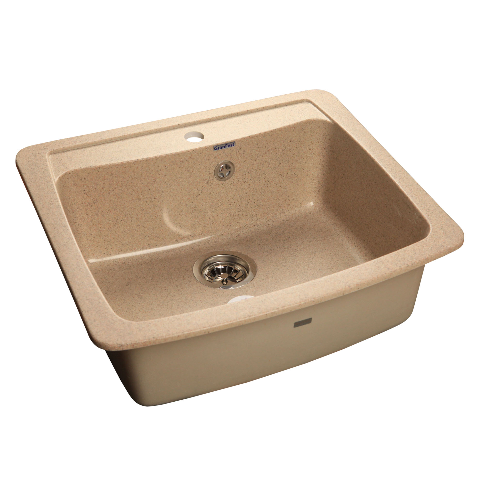 Кухонная мойка GranFest Standart GF-S605 песочный мойка кухонная granfest гранит 605x510 gf s605 бежевая