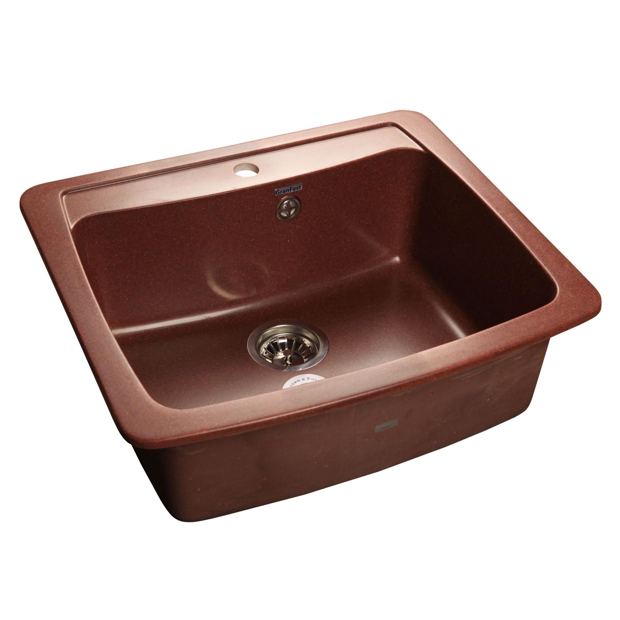 Кухонная мойка GranFest Standart GF-S605 красный марс мойка кухонная granfest гранит 605x510 gf s605 бежевая