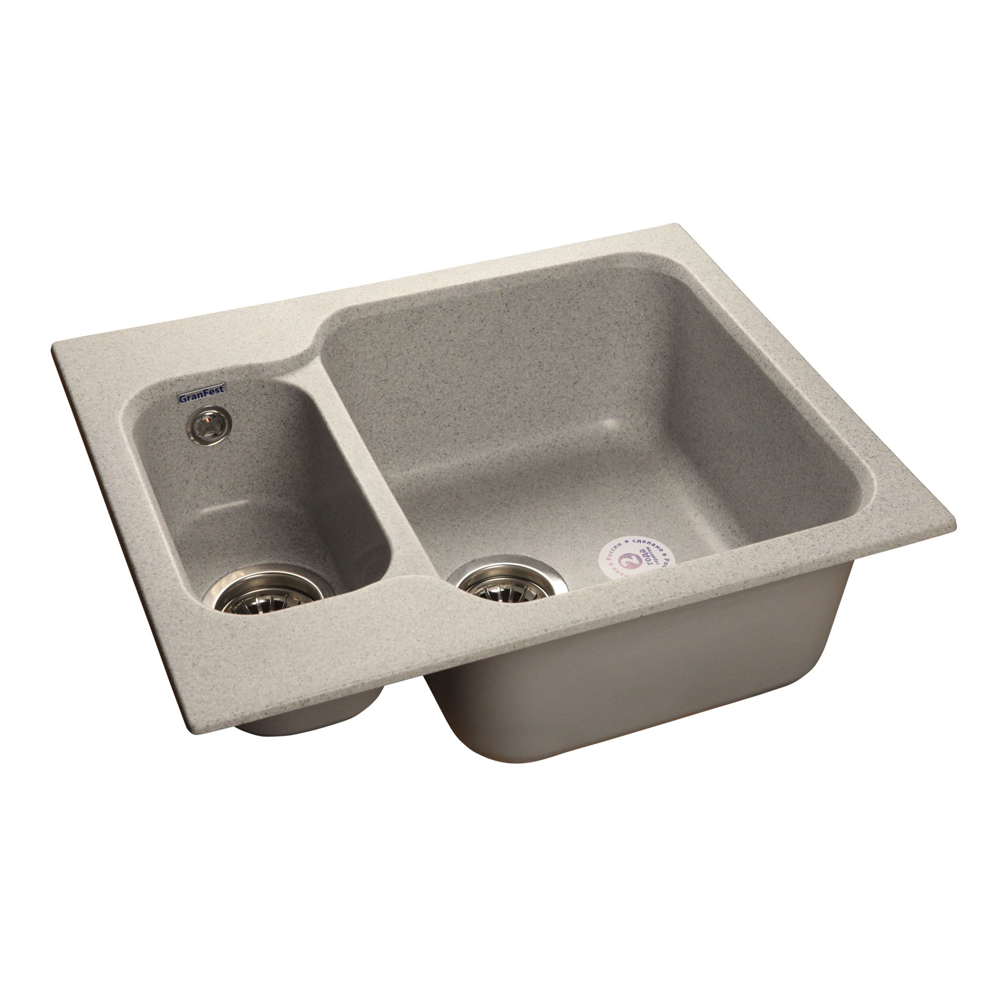 Кухонная мойка GranFest Standart GF-S615K серый мойка кухонная granfest гранит 615x500 gf s615k терракот