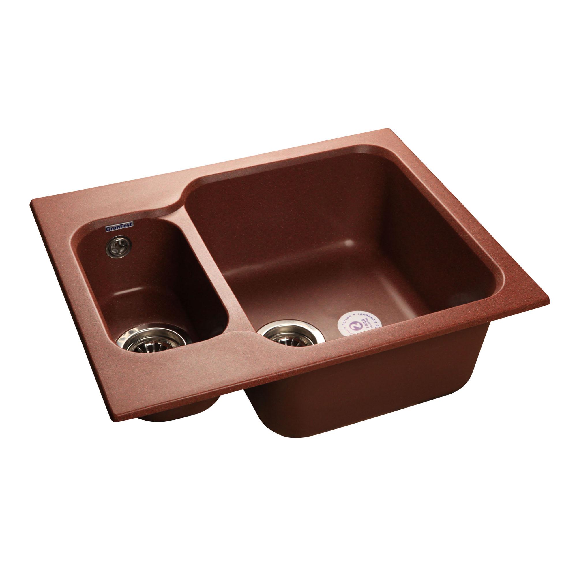 Кухонная мойка GranFest Standart GF-S615K красный марс мойка кухонная granfest гранит 615x500 gf s615k терракот
