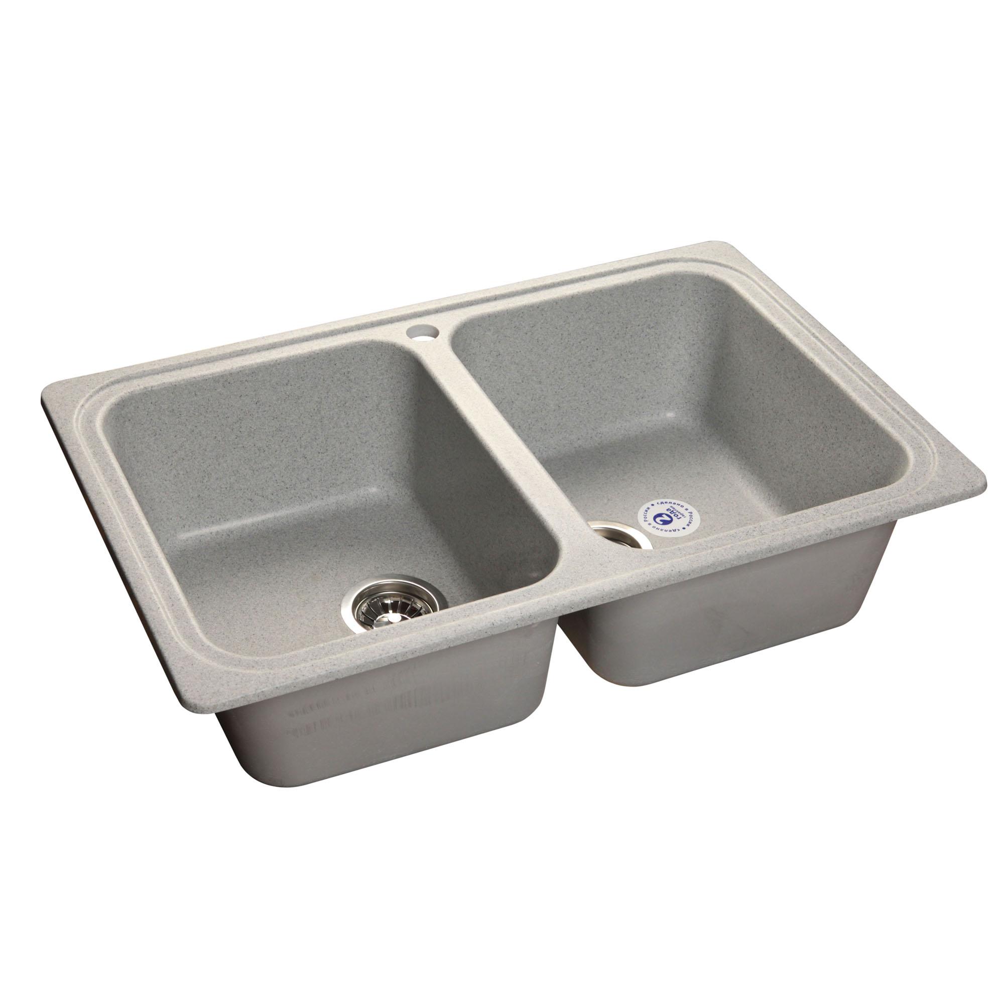 Кухонная мойка GranFest Standart GF-S780K серый мойка кухонная granfest гранит 780x510 gf s780k бежевая