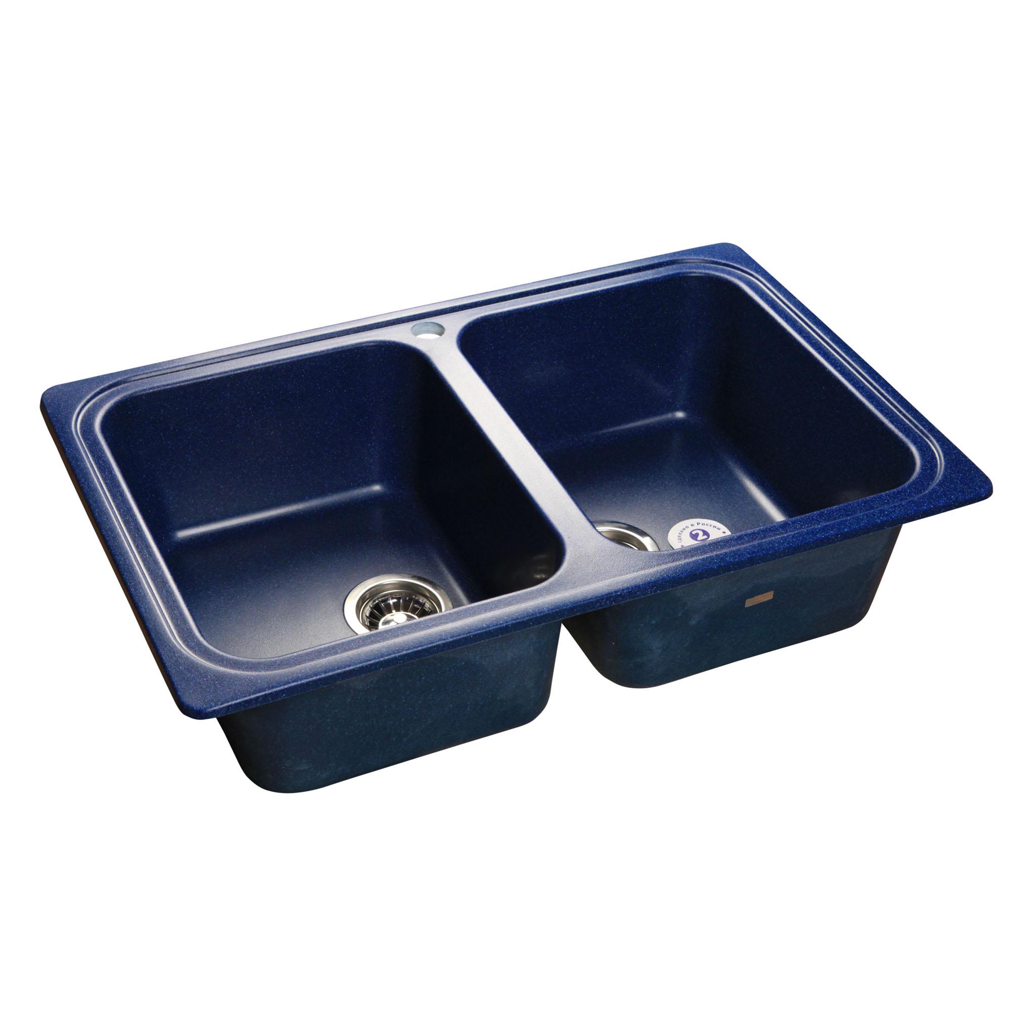 Кухонная мойка GranFest Standart GF-S780K синий мойка кухонная granfest гранит 780x510 gf s780k бежевая