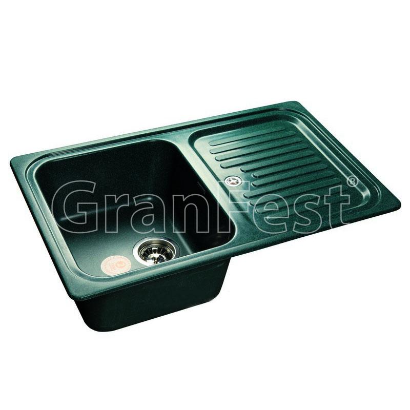 Кухонная мойка GranFest Standart GF-S780L зеленый мойка кухонная granfest gf s780l песок чаша крыло