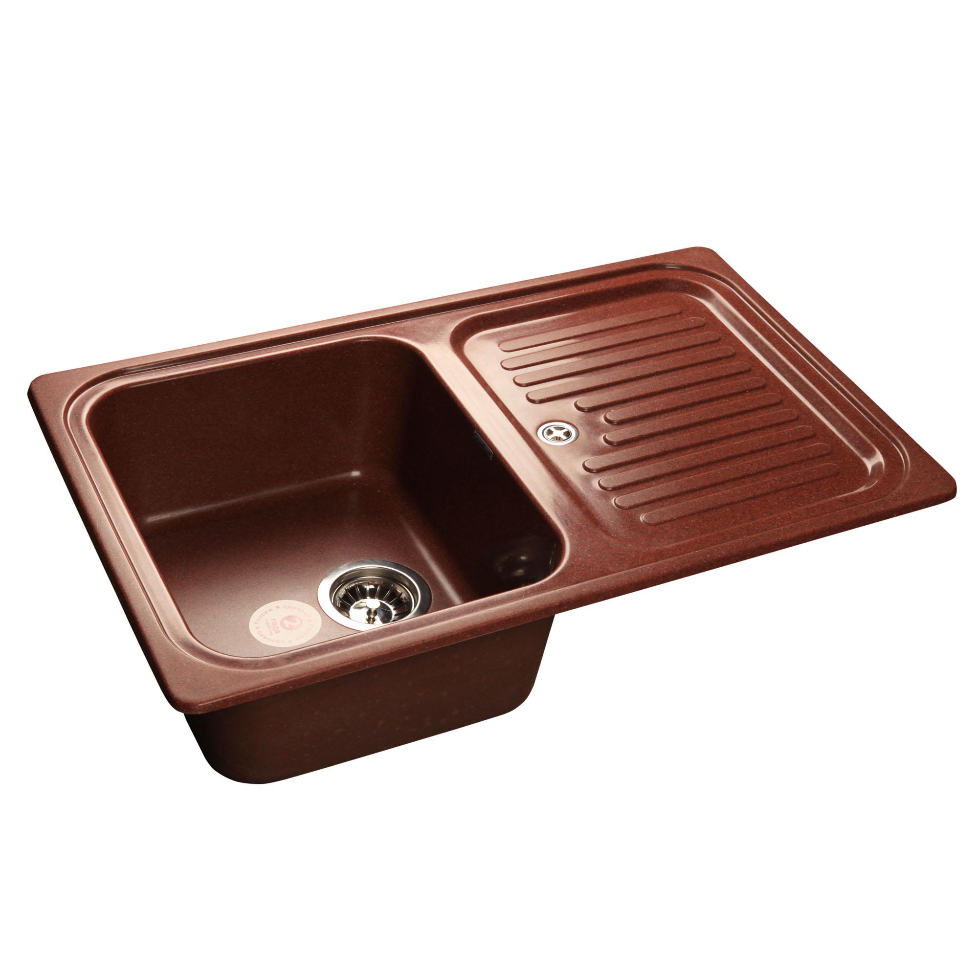 Кухонная мойка GranFest Standart GF-S780L красный марс мойка кухонная granfest gf s780l песок чаша крыло