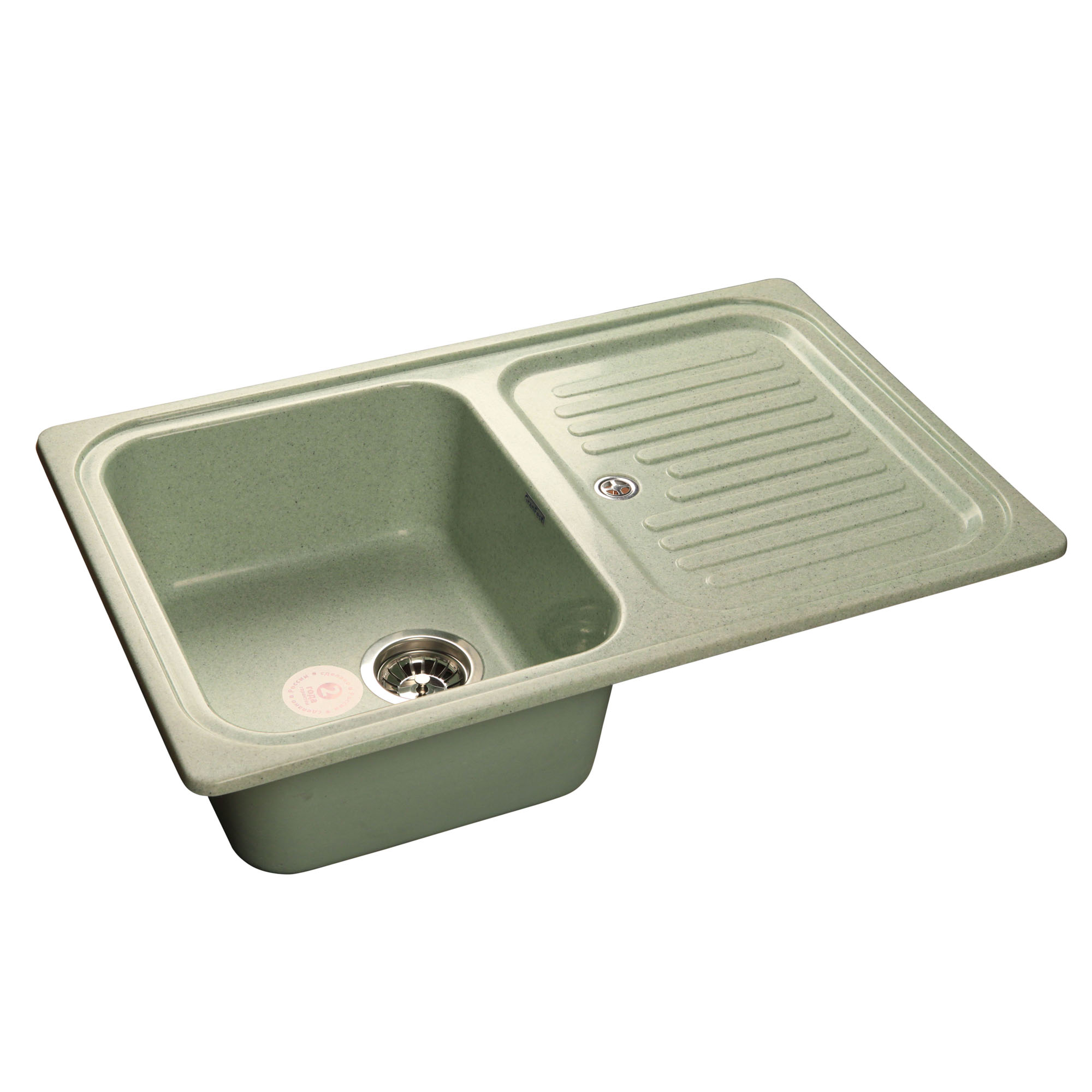 Кухонная мойка GranFest Standart GF-S780L салатовый мойка кухонная granfest gf s780l песок чаша крыло