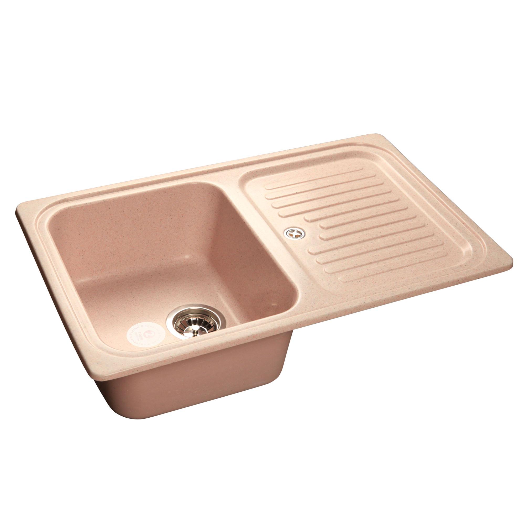 Кухонная мойка GranFest Standart GF-S780L светло-розовый мойка кухонная granfest gf s780l песок чаша крыло