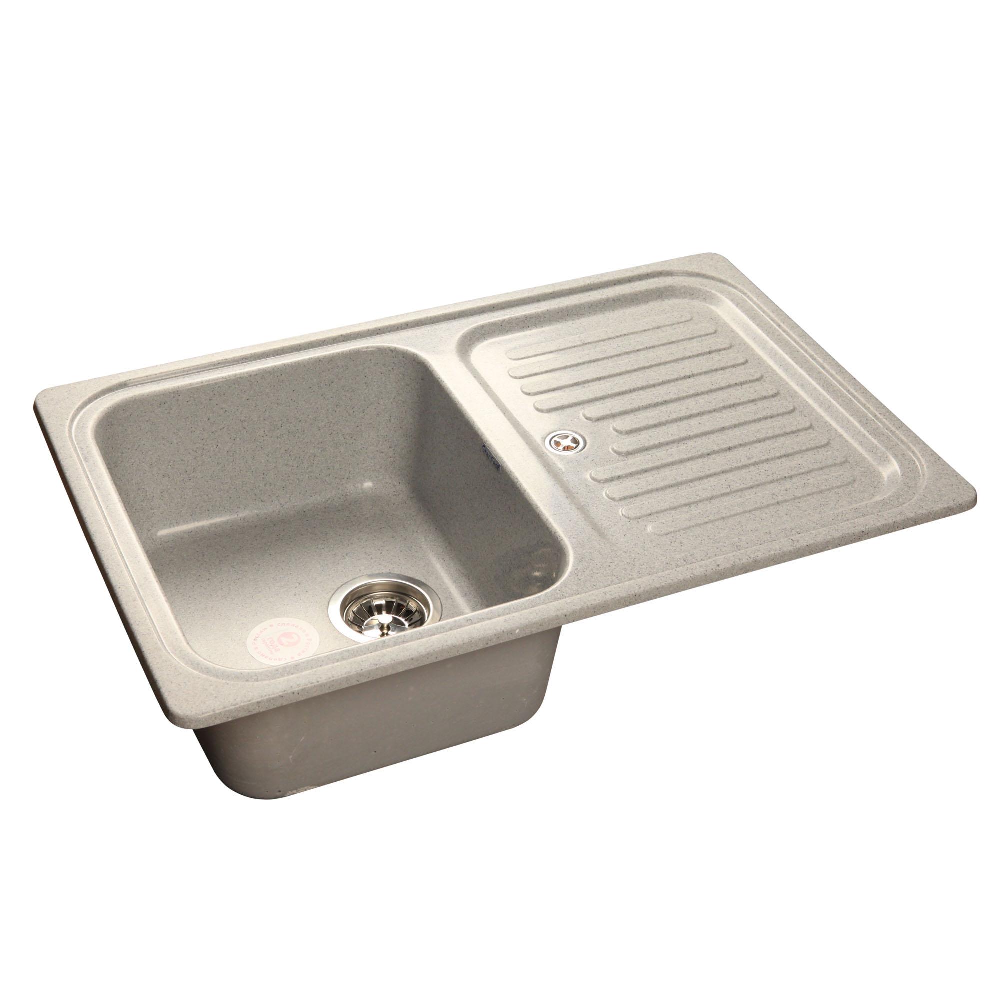 Кухонная мойка GranFest Standart GF-S780L серый мойка кухонная granfest gf s780l песок чаша крыло