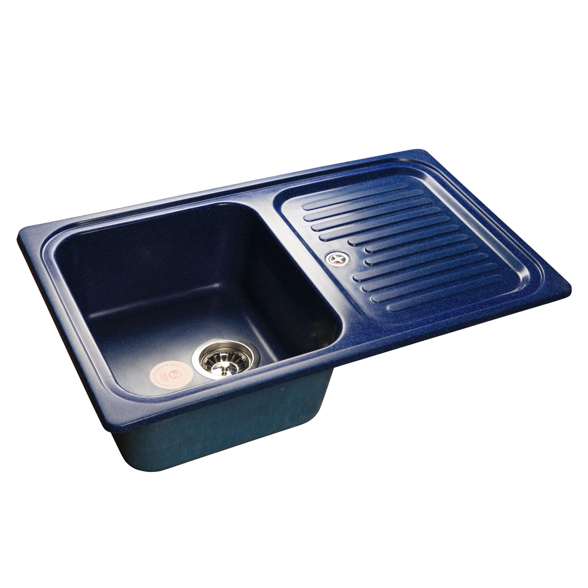Кухонная мойка GranFest Standart GF-S780L синий мойка кухонная granfest gf s780l песок чаша крыло