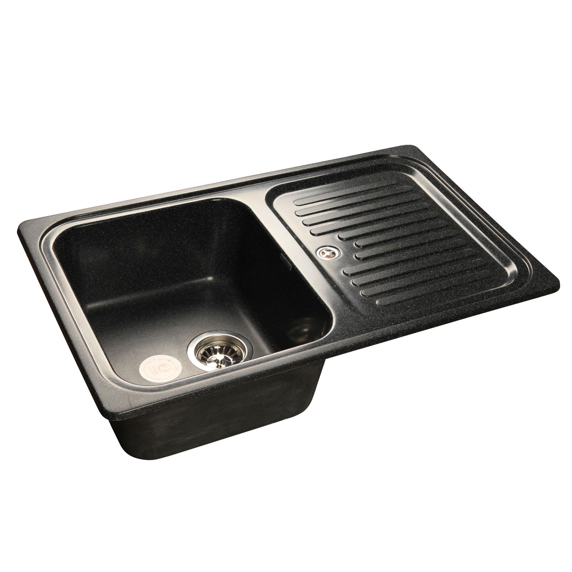 Кухонная мойка GranFest Standart GF-S780L черный цена