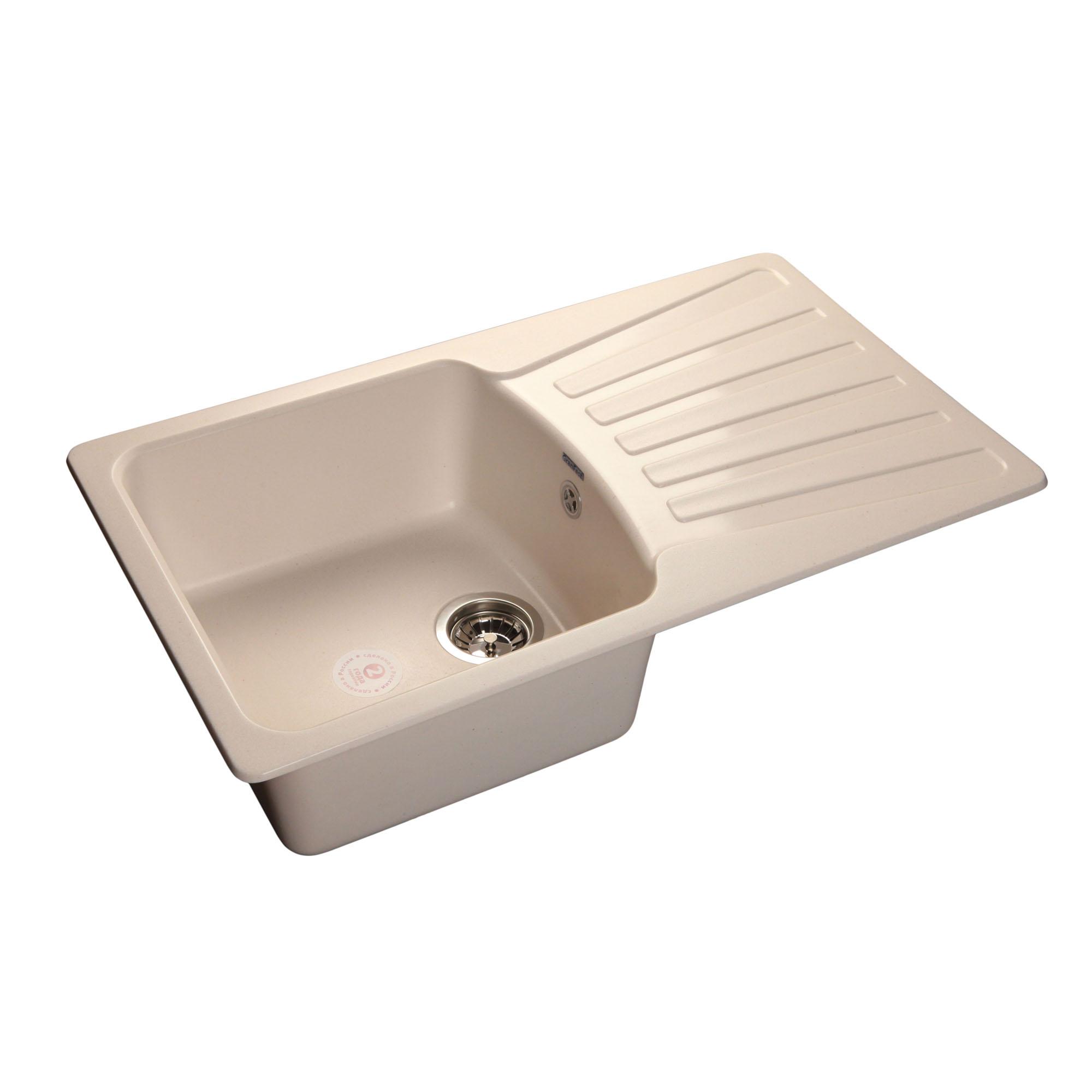 Кухонная мойка GranFest Standart GF-S850L белый мойка кухонная granfest гранит 850x495 gf s850l терракот