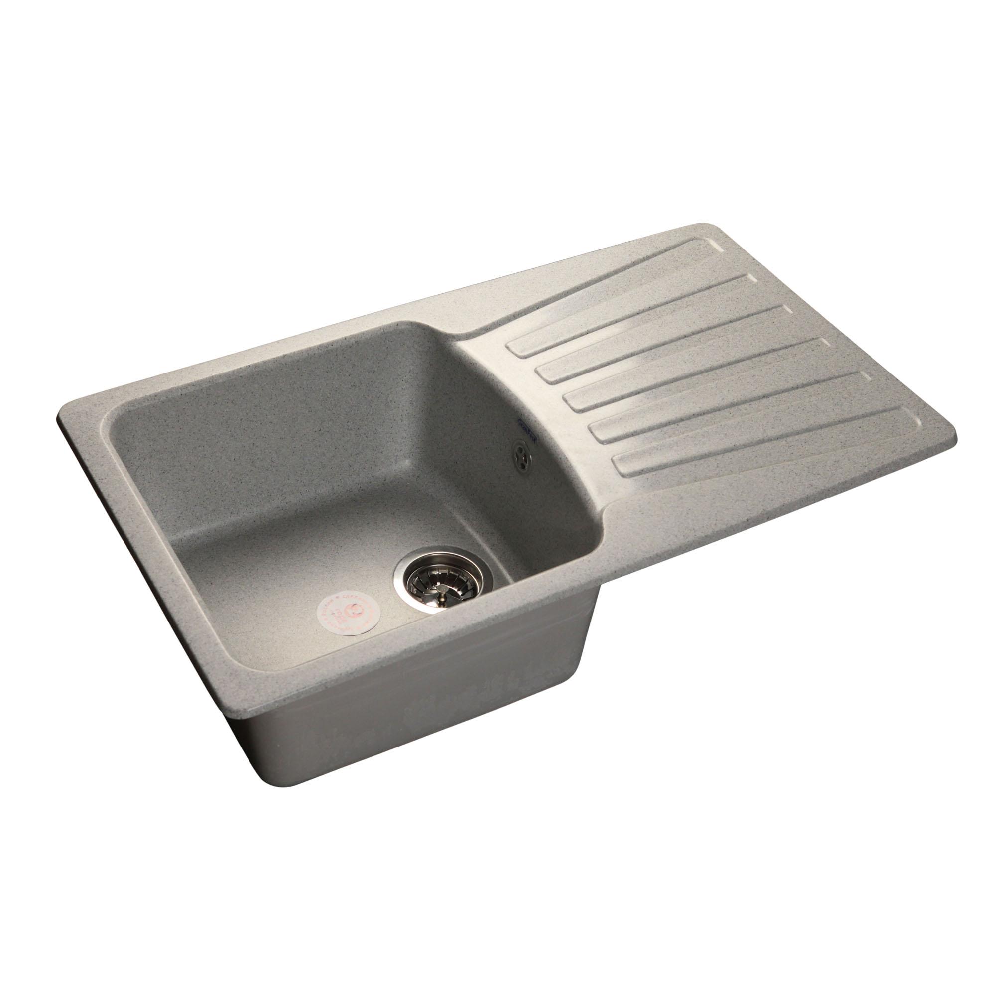 Кухонная мойка GranFest Standart GF-S850L серый мойка кухонная granfest гранит 850x495 gf s850l терракот