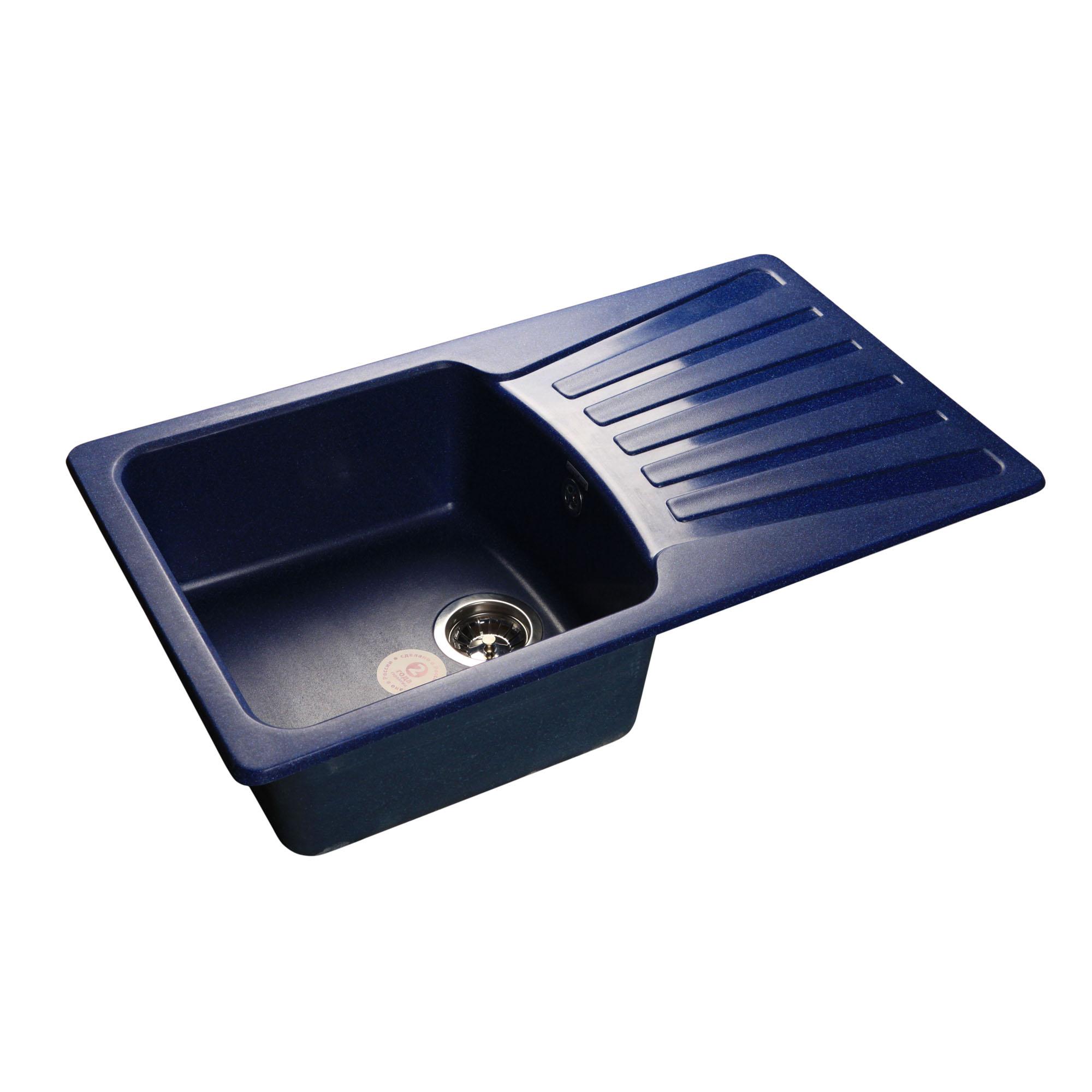 Кухонная мойка GranFest Standart GF-S850L синий мойка кухонная granfest гранит 850x495 gf s850l терракот