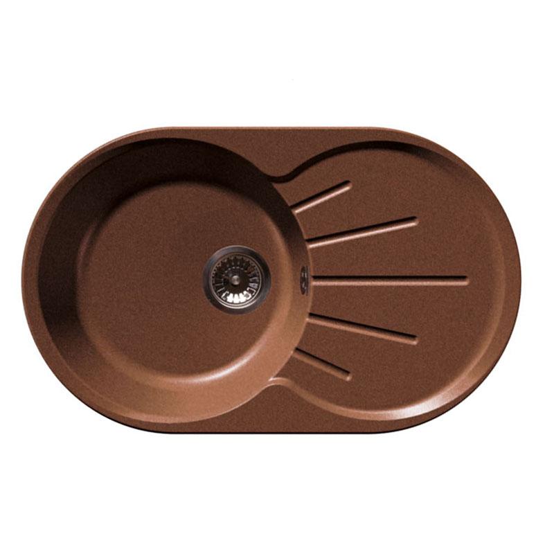 Кухонная мойка GranFest Rondo GF-R750L терракот мойка кухонная granfest gf r480 терракот d480