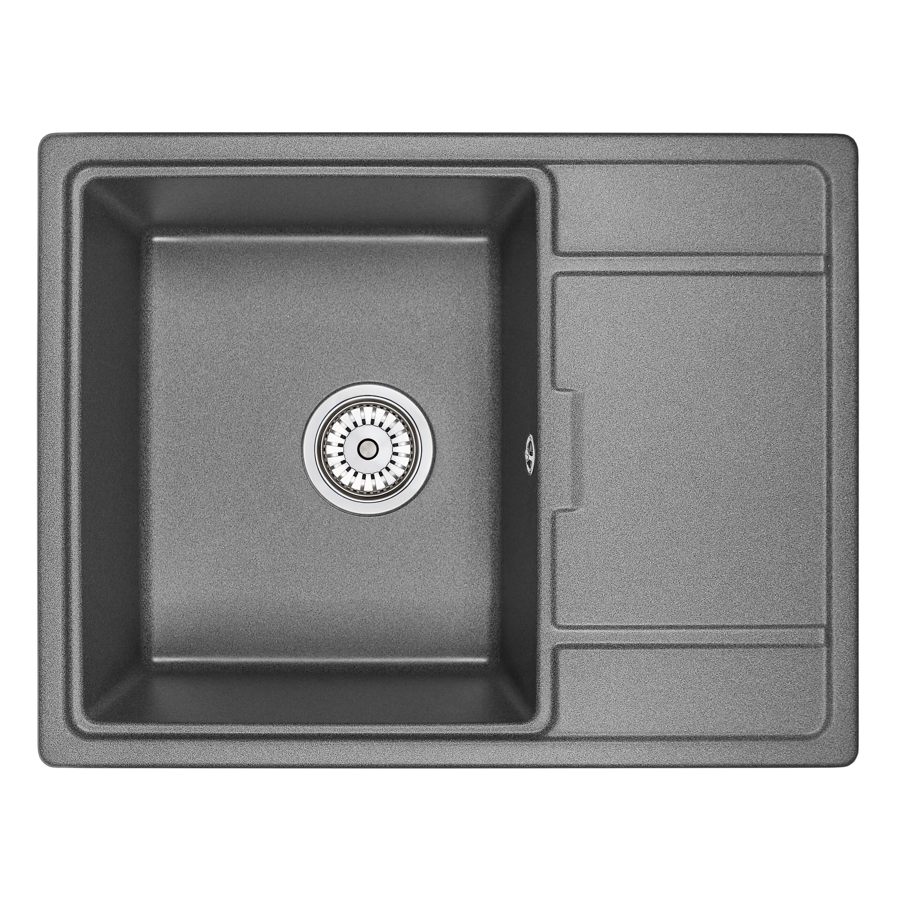 Кухонная мойка Granula GR-6503 650х500 графит мойка кухонная granula 77 5x49 5 см графит gr 7802 графит