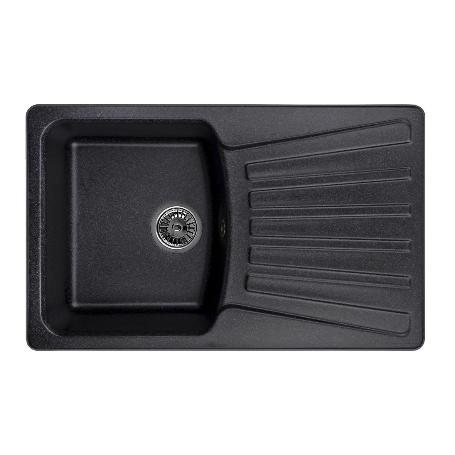 Кухонная мойка Granula GR-8001 790х500 черный посуда кухонная
