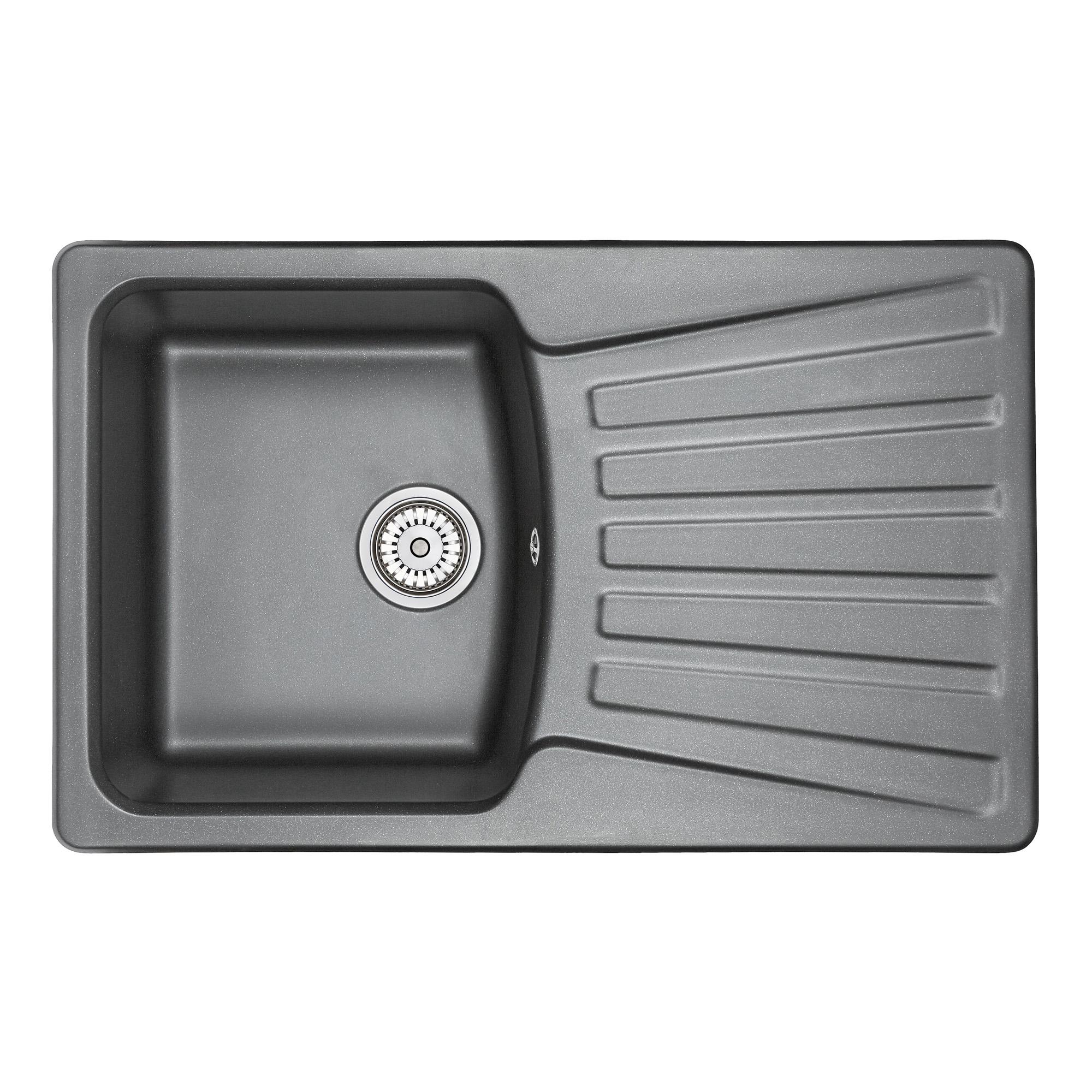 Кухонная мойка Granula GR-8001 790х500 шварц кухонная мойка granula gr 8001 790х500 брют