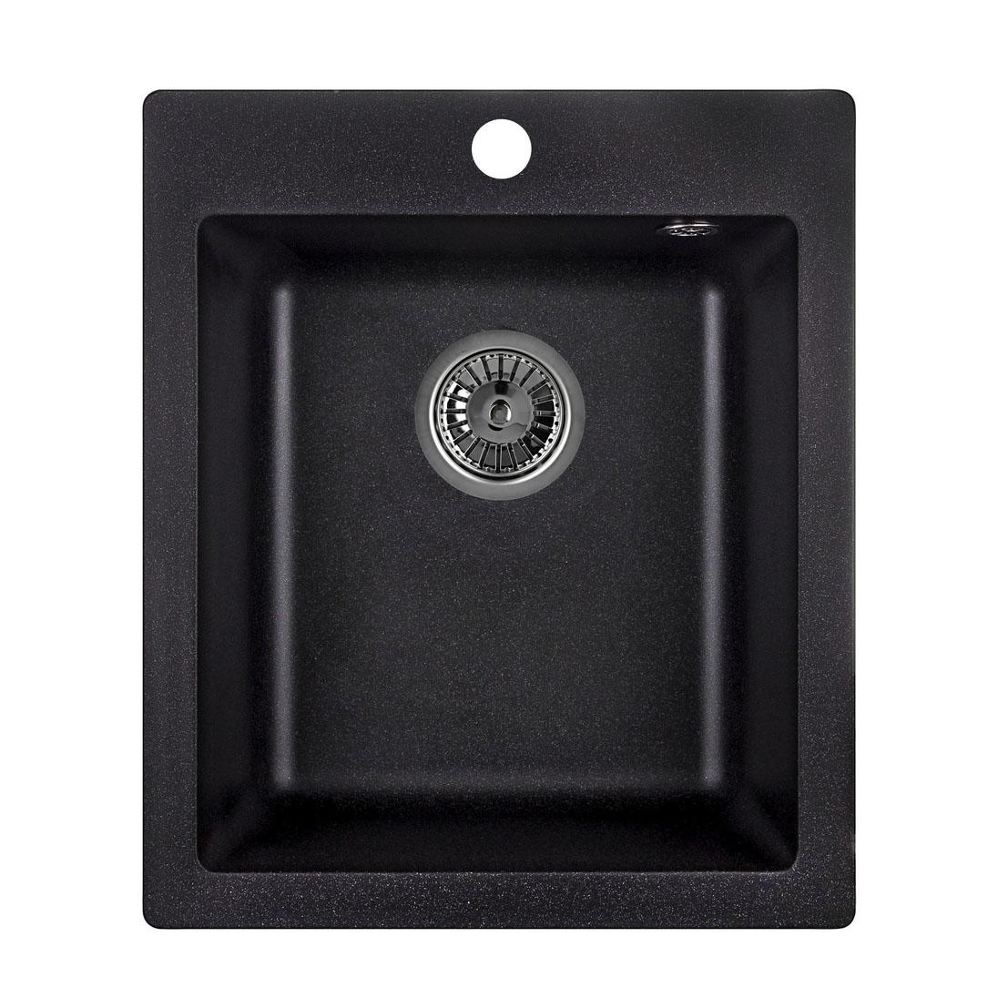 Кухонная мойка Granula GR-4201 415х490 черный кухонная мойка teka centroval mic