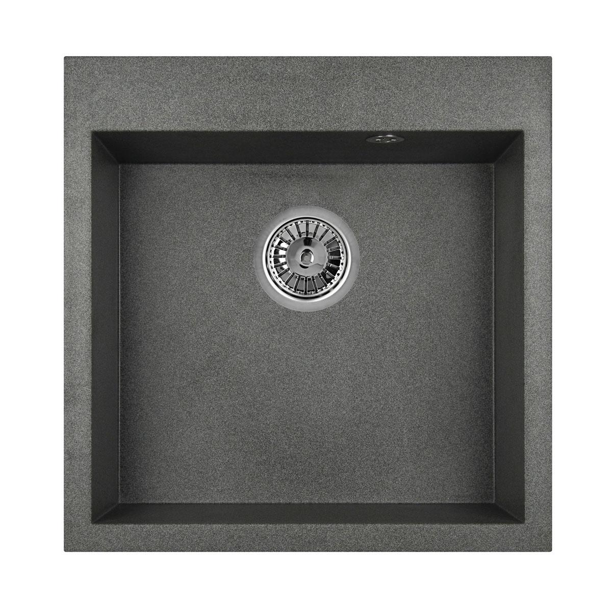 Кухонная мойка Granula GR-5102 505х510 графит мойка кухонная granula 50 5х51 см графит gr 5102 графит