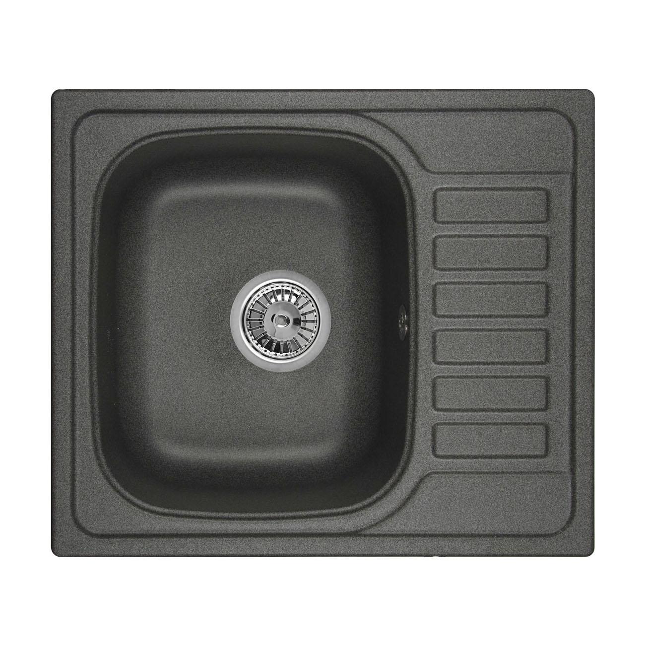 Кухонная мойка Granula GR-5801 575х495 графит мойка кухонная granula 50 5х51 см графит gr 5102 графит