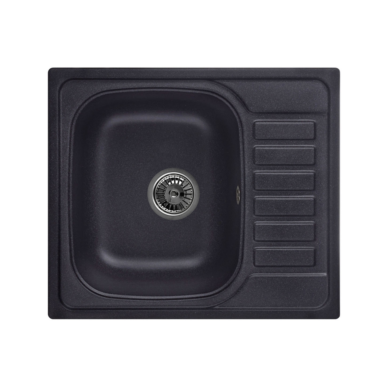 Кухонная мойка Granula GR-5801 575х495 черный кухонная мойка teka classic 1b 1 2d microtex