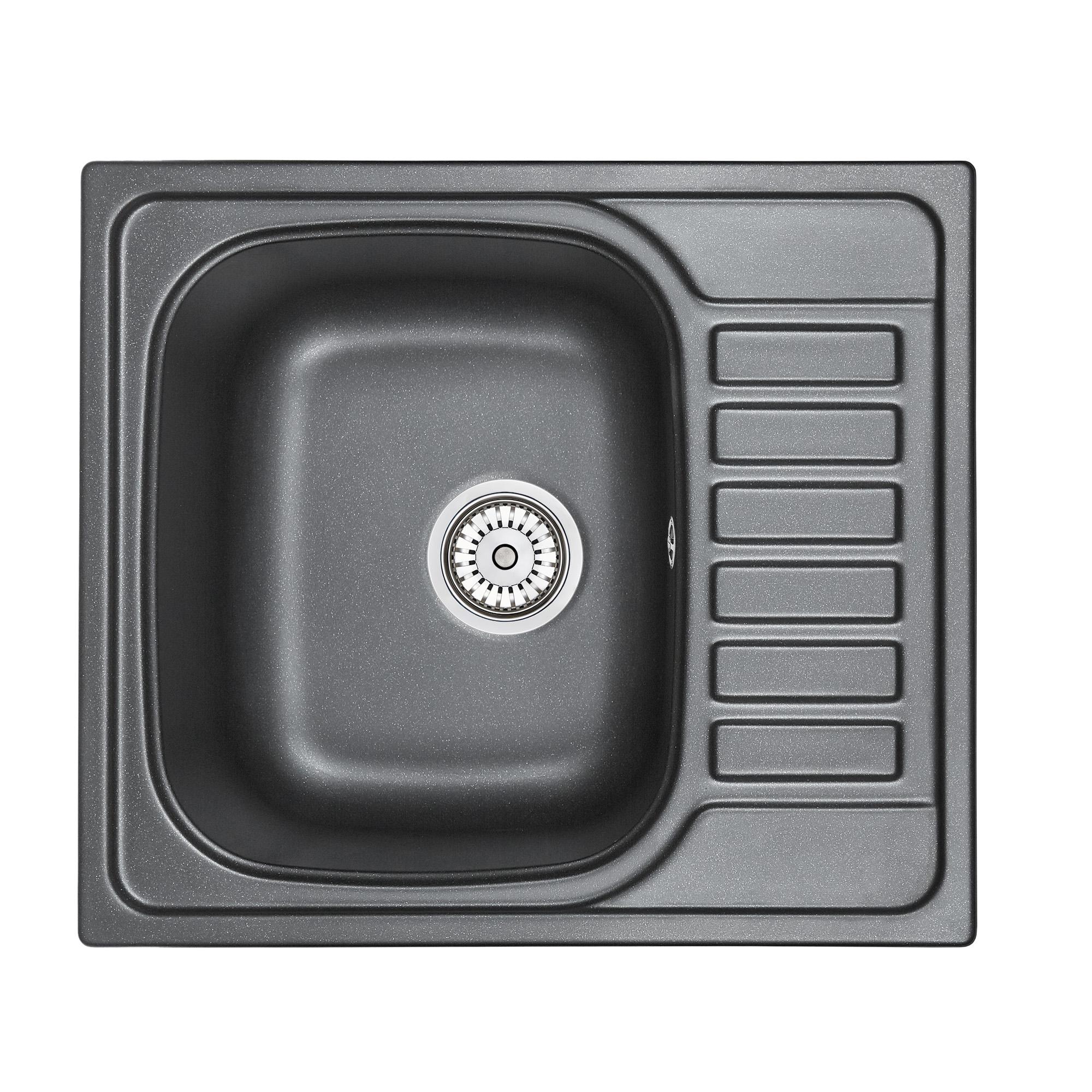 Кухонная мойка Granula GR-5801 575х495 шварц кухонная мойка teka classic 1b 1 2d microtex